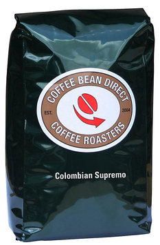 Coffee Bean Direct Green Colombian Supremo, Whole Bean
