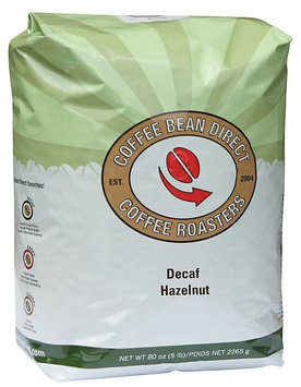 Coffee Bean Direct Decaf Hazelnut Flavored, Whole Bean