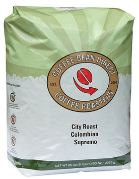 Coffee Bean Direct City Roast Colombian Supremo, Whole Bean