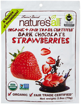 Nature`s All Foods Nature's All Foods Organic Dark Chocolate Strawberries 2.8 oz
