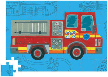48 Piece Puzzle - Firetruck by Crocodile Creek
