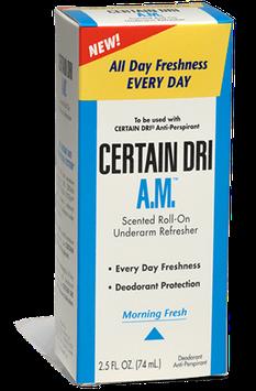 Certain Dri AM Everyday Strength Underarm Anti-Perspirant/Deodorant Roll-On