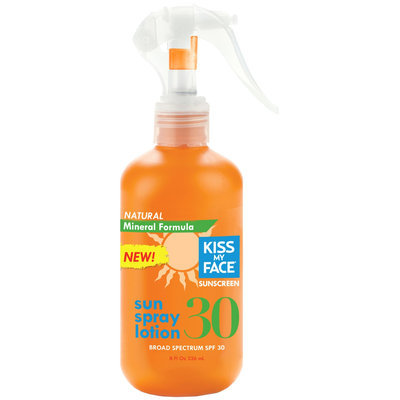 Kiss My Face Natural Mineral Sun Spray Lotion Spf 30