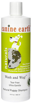 Canine Earth Wash and Wag! Tear Free Ultra Gentle Puppy Shampoo - 16 oz