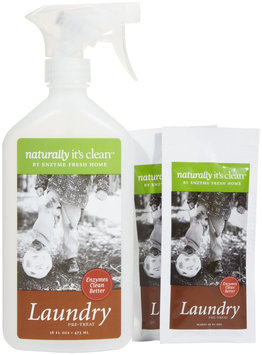 Naturally It's Clean Laundry, Enzyme Stain Remover Kit/2 refills-Citrus