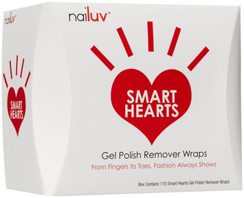 Nailuv Smart Hearts Gel Polish Remover Wraps