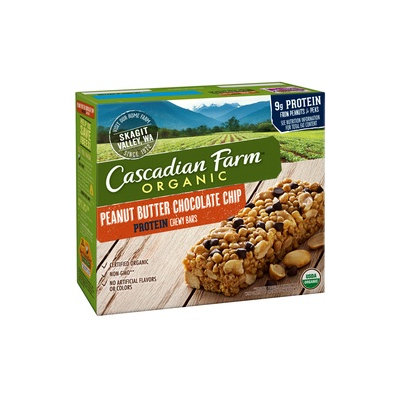 Cascadian Farm Organic Protein Peanut Butter Chocolate Chip Chewy Bars