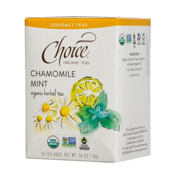 Choice Organic Teas Chamomile Mint Organic Herbal Tea