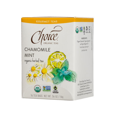 Choice Organic Teas Chamomile Mint Organic Herbal Tea