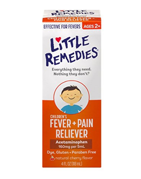 LITTLE REMEDIES® CHILDREN'S FEVER & PAIN RELIEVER NATURAL CHERRY FLAVOR