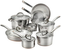 Groupeseb T-Fal Ultimate Stainless Steel Copper Bottom 13-piece Cookware Set