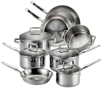 Groupeseb T-Fal Tri-Ply Stainless Steel 12-piece Cooking Set