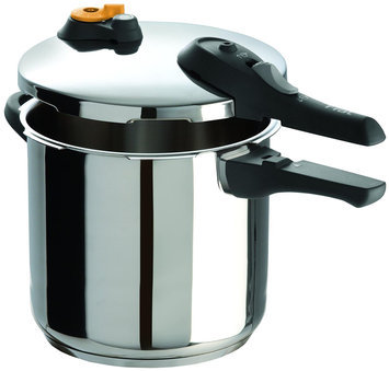 T-fal P25144 Stainless Steel Oven Safe Induction Safe Pressure Cooker Cookware, 8.5-Quart, Silver