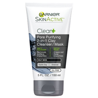 Garnier SkinActive Clean+ Pore Purifying 2-In-1 Clay Cleanser Mask