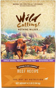 Wild Calling Western Plains Stampede Beef Recipe Dry Dog Food 4.5 lb.