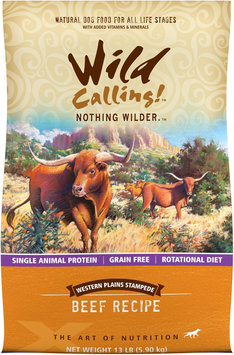 Best Friend Products Corp Wild Calling Western Plains Beef Dry Dog Food 13lb