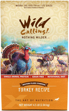 Wild Calling Western Plains Stampede Turkey Recipe Dry Dog Food 4.5 lb.