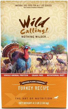 Wild Calling Western Plains Stampede Turkey Recipe Dry Dog Food 4.5 lb.
