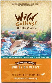 Wild Calling Western Plains Stampede White Fish Recipe Dry Dog Food 4.5 lb.