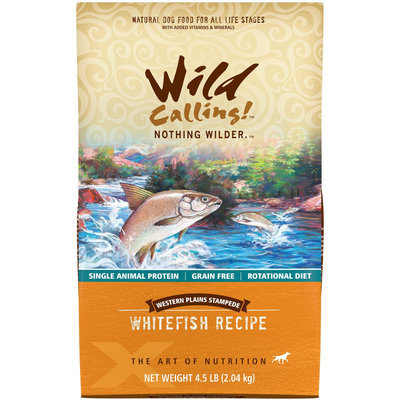 Wild Calling Western Plains Stampede White Fish Recipe Dry Dog Food 4.5 lb.