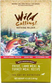 Wild Calling Rocky Mountain Medley Trout Lamb & Turkey Dry Dog Food 4.5 lb.