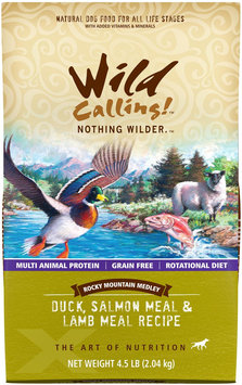 Wild Calling Rocky Mountain Medley Duck Salmon & Lamb Dry Dog Food 4.5 lb.