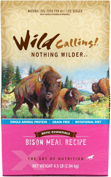 Wild Calling Xotic Essentials Grain Free Bison Meal Recipe Dry Dog