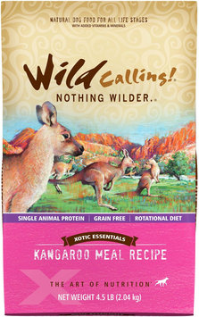 Wild Calling Xotic Essentials Grain Free Kangaroo Meal Recipe Dry Dog