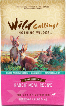 Wild Calling Xotic Essentials Grain Free Rabbit Meal Recipe Dry Dog