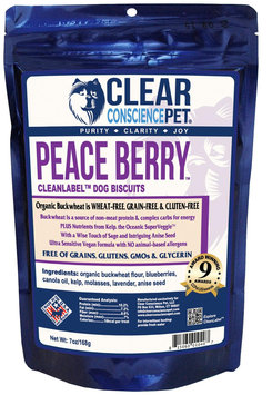 Clear Conscience Pet Clean Label Dog Treats - Peace Berry