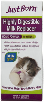 Farnam Just Born Milk Replacer Liquid Kitten Formula, 8 fl. oz.