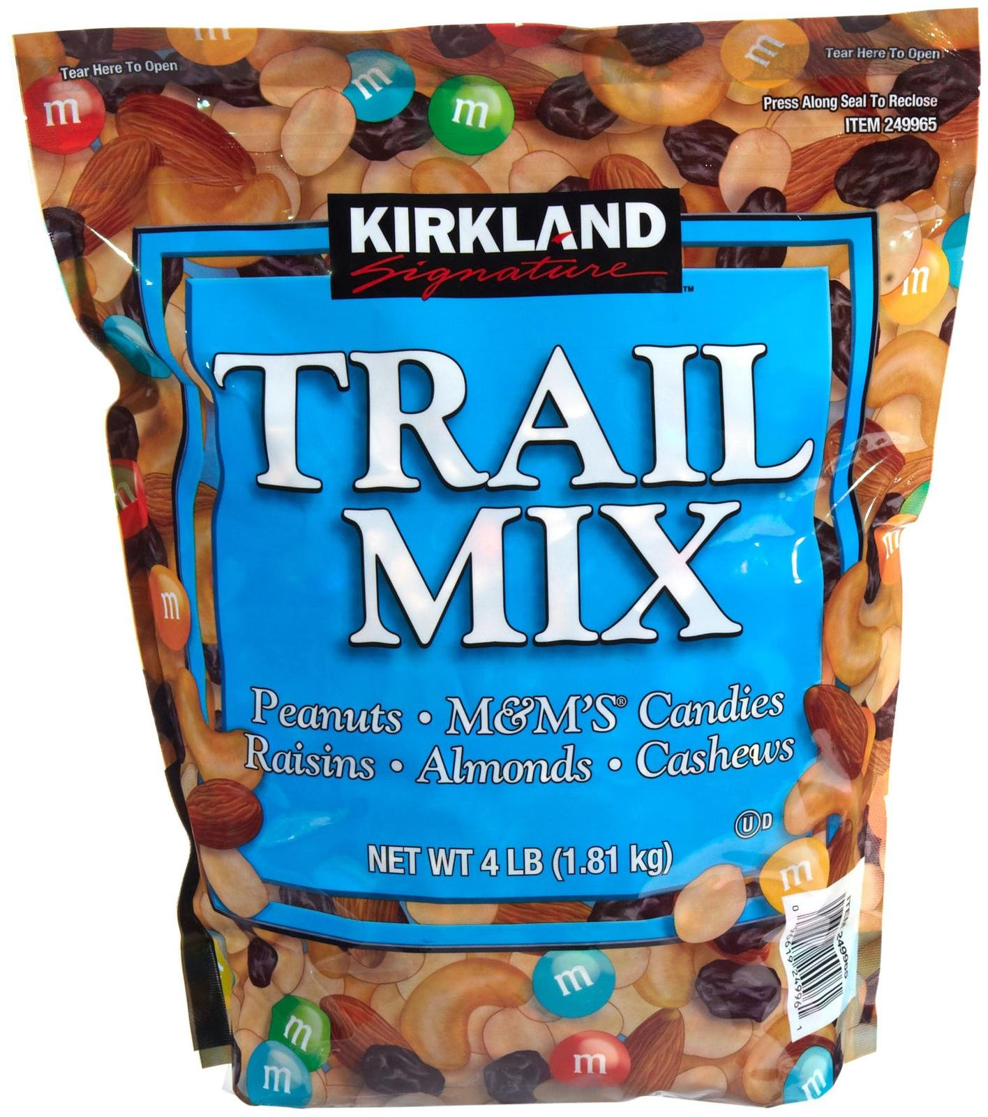 Kirkland Signature Trail Mix Value Size, Ideal Snack Food, 4 lb