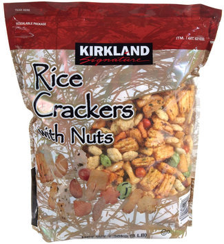 Kirkland Signature Rice Crackers with Nuts, 3 lb
