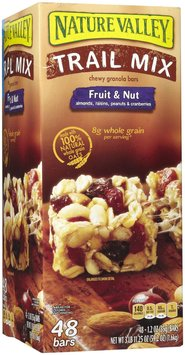 General Mills Nature Valley Chewy Trail Mix Bars, 30 Bars