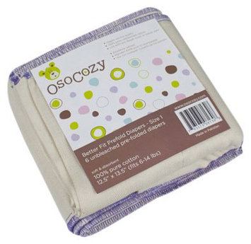 OsoCozy Better Fit Prefold Cloth Diapers S (8-14 lbs) - 6 ct.