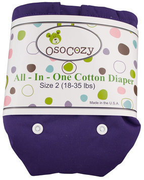 OsoCozy Unbleached All In One Cloth Diaper - Purple Size 2