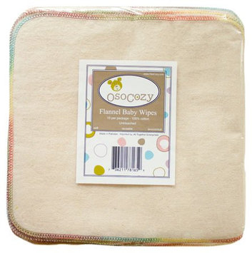 OsoCozy Unbleached Imported Flannel Baby Wipes - 1 ct.