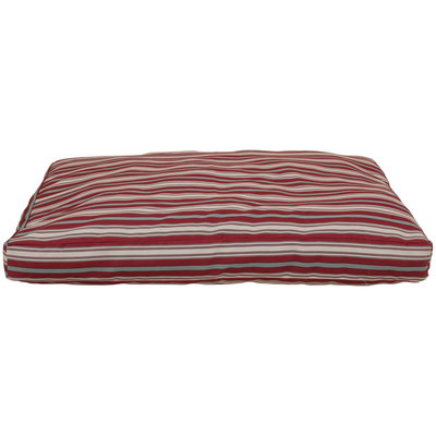 Everest Pet Carolina Pet Company Small Indoor/Outdoor Striped Jamison Bed - Red 1561