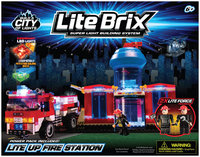 Cra-Z-Art Lite Brix Building System - Fire Rescue Station