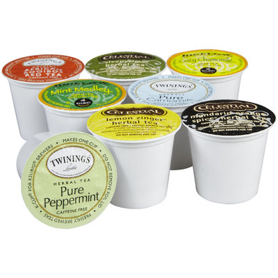 Crazy Cups Herbal Tea Sampler Pack K-Cups, 1.44 oz, 35 ct