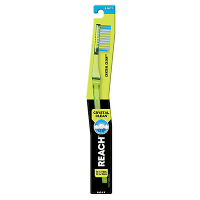 REACH® Crystal Clean Soft Bristle Toothbrush