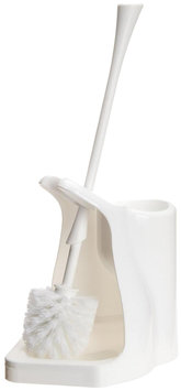 Casabella Toilet Bowl Brush & Plunger Combo, White