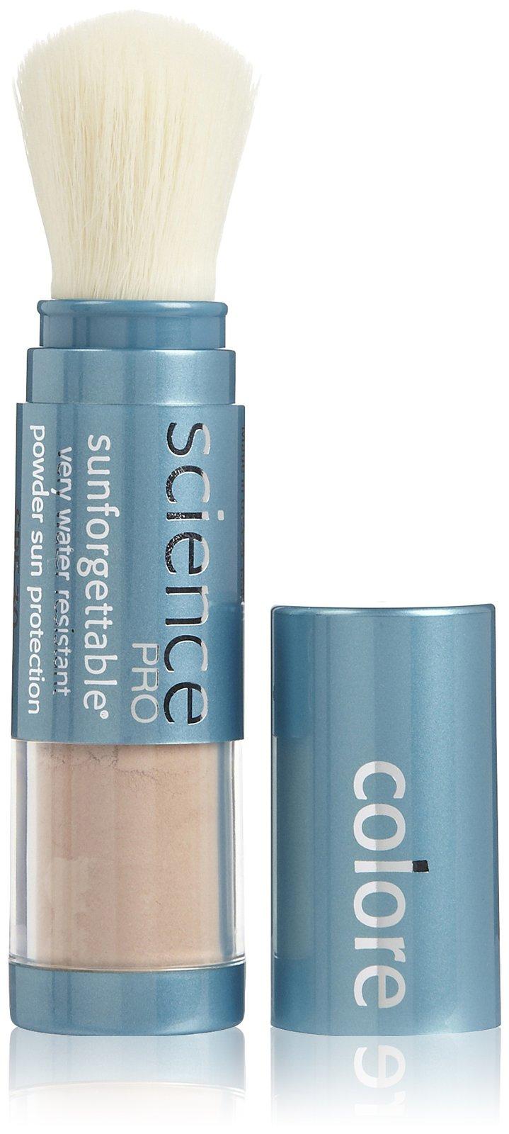 Colorescience Sunforgettable Mineral Sunscreen SPF 50 Brush, Tan, 1 ea