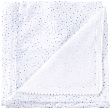 Clouds and Stars QuickZip Zipper Cotton Crib Sheet- Blue Dot