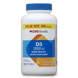 CVS D3 2000 Iu Bone Health Softgels