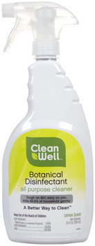 CleanWell - Botanical Disinfectant All Purpose Cleaner Lemon Scent - 26 oz.