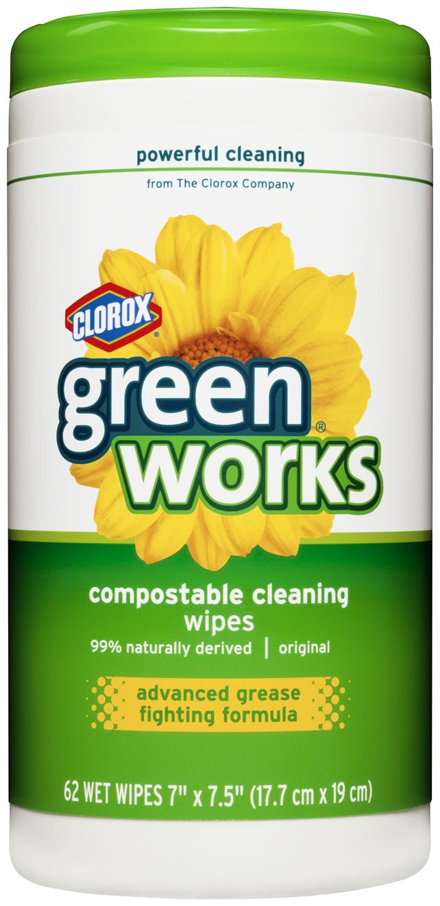 Green Works Compostable Cleaning Wipes Canister