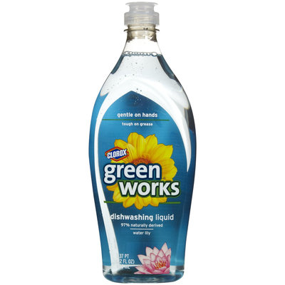 Green Works Dishwashing Liquid, Water Lily, 22 oz