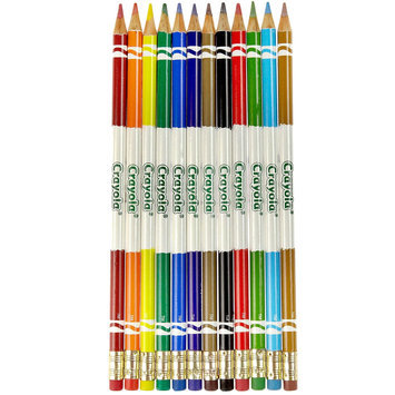 Crayola Erasable Colored Pencils, 12-Color Set