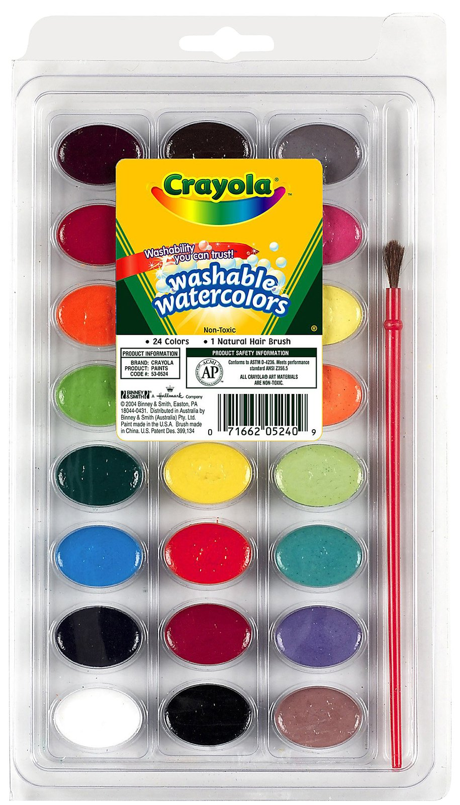 Crayola 24 Ct. Pan Washable Watercolors - 1 ct.